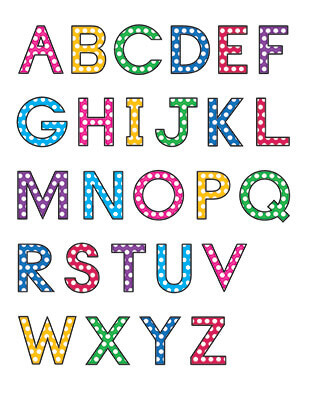 Uppercase Letters Template