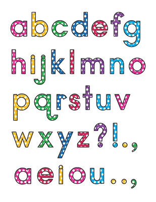 Lowercase Letters Template