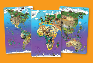 Wildlife Map Puzzles