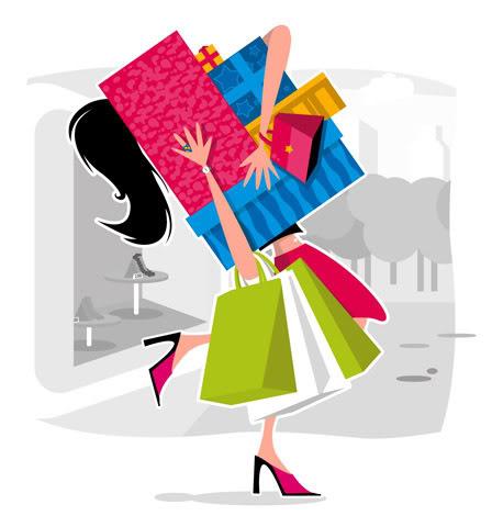 Holiday Shopping Dowling Magnets
