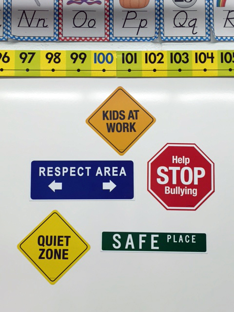 all five school sign magnets