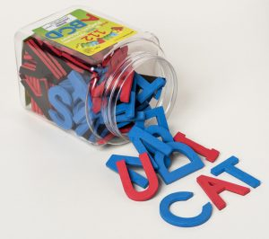Red and Blue Foam Fun Letters