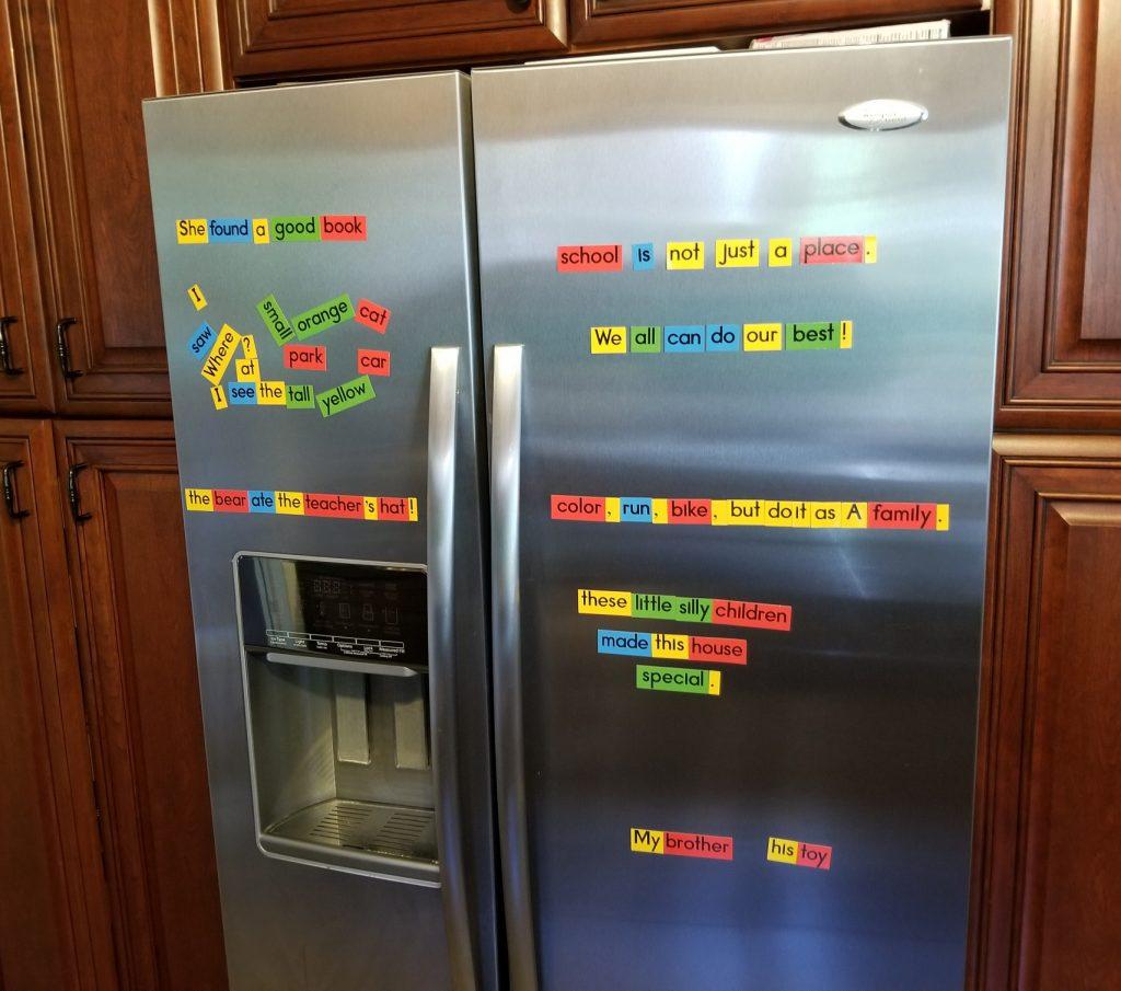 sentences on fridge