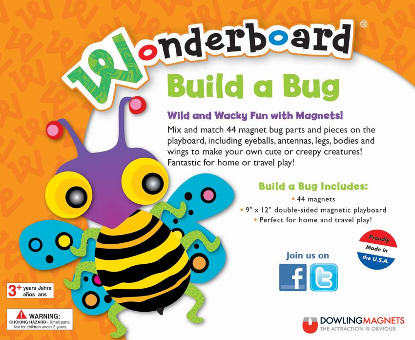 Wonderboard Build a Bug Magnet Set