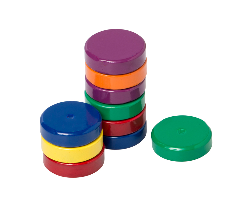 Small Ceramic Disc Magnets, Set of 10