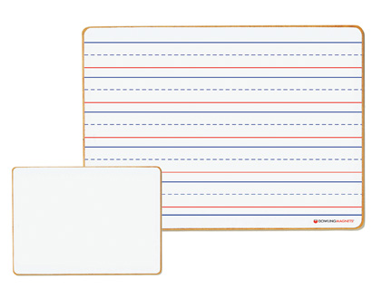 Non-Magnetic Dry-Erase Boards (ruled/blank), Set of 5