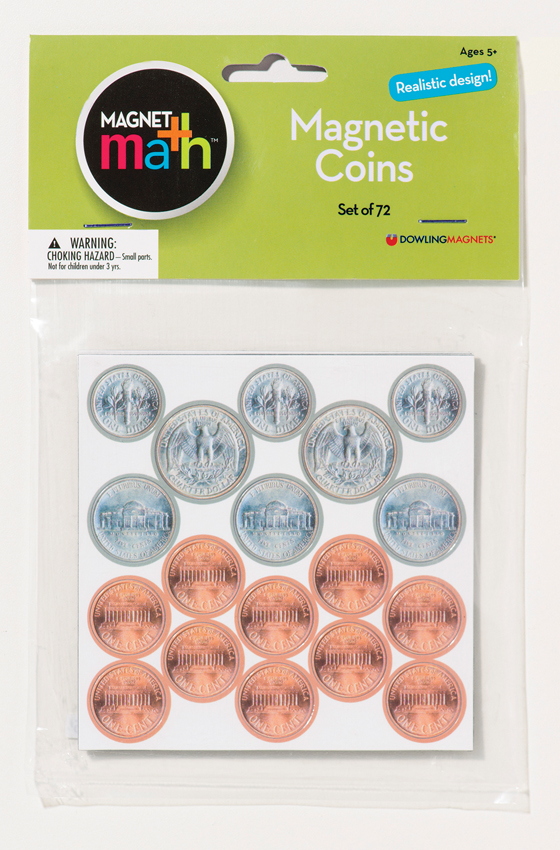Magnetic Coins, Set of 72