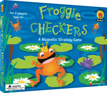 Froggie Checkers Magnetic Strategy Game