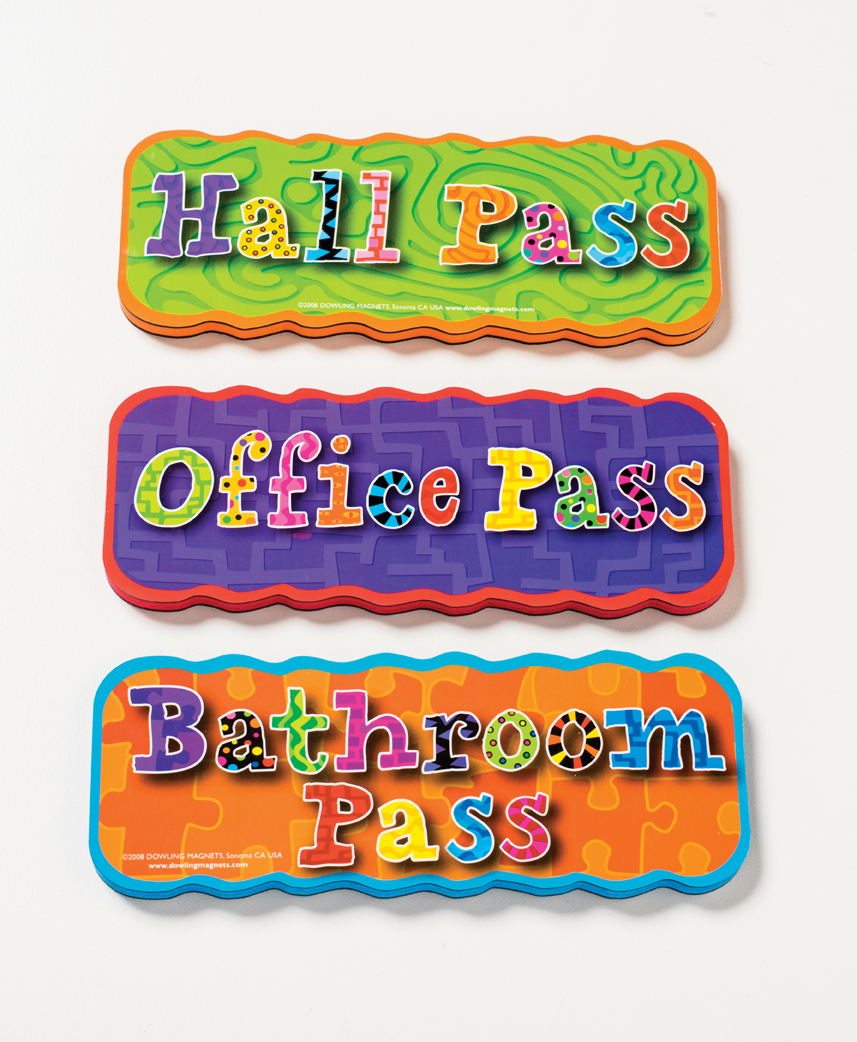 Magnetic Hall Passes, Set of 3