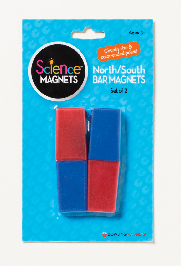 North/South Bar Magnets (3