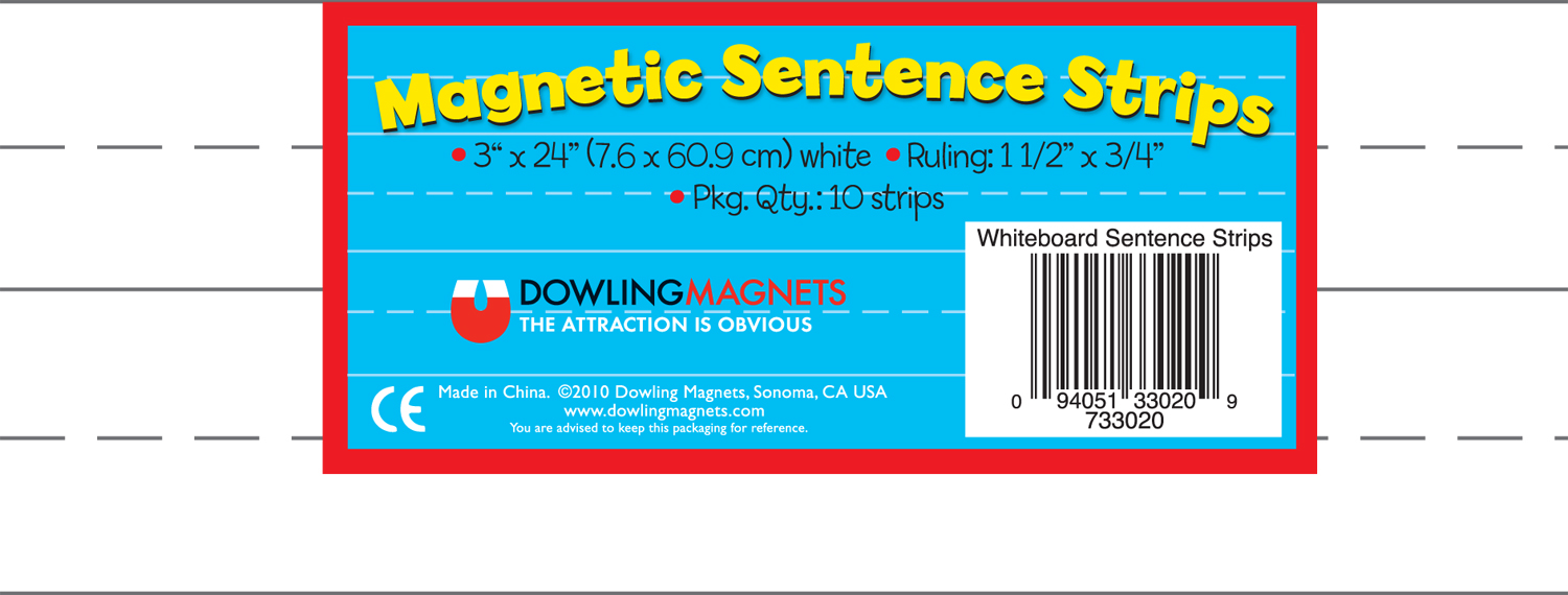 Large Magnet Sentence Strips - 10 pcs