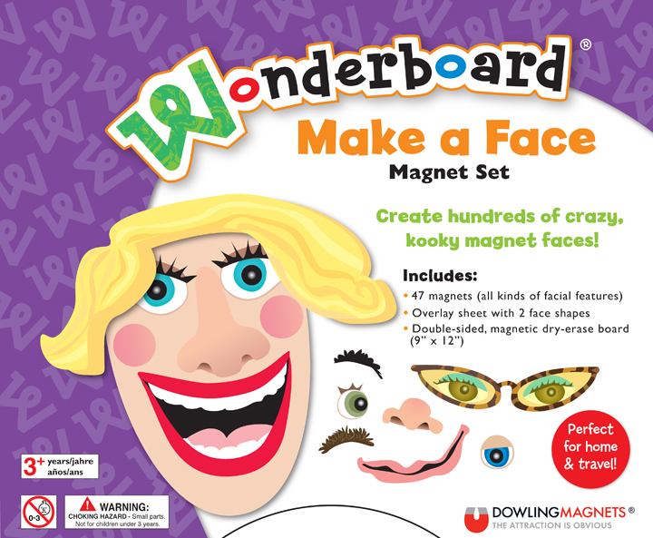 Wonderboard Make a Face Magnet Set
