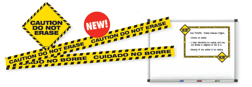 Caution Do Not Erase Magnet Set