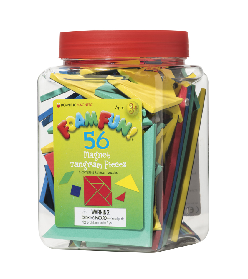 Foam Fun Magnet Tangram Pieces, Set of 56