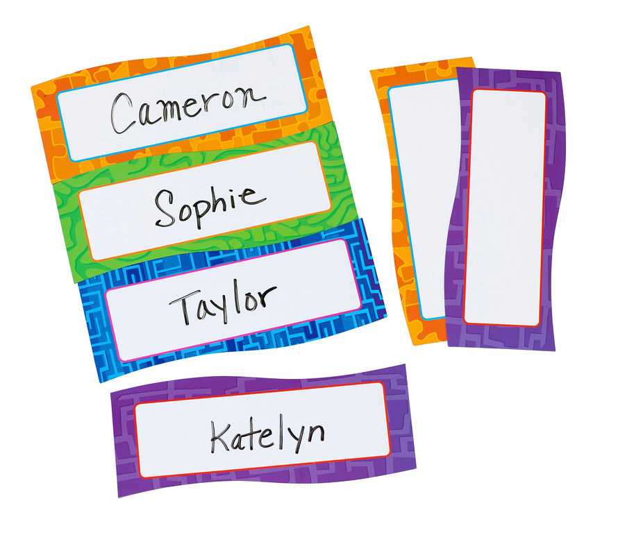 Magnetic Name Plates, Set of 20