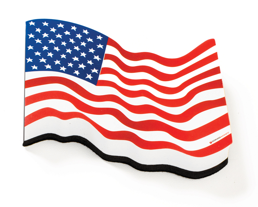 Magnetic Whiteboard Eraser: American Flag