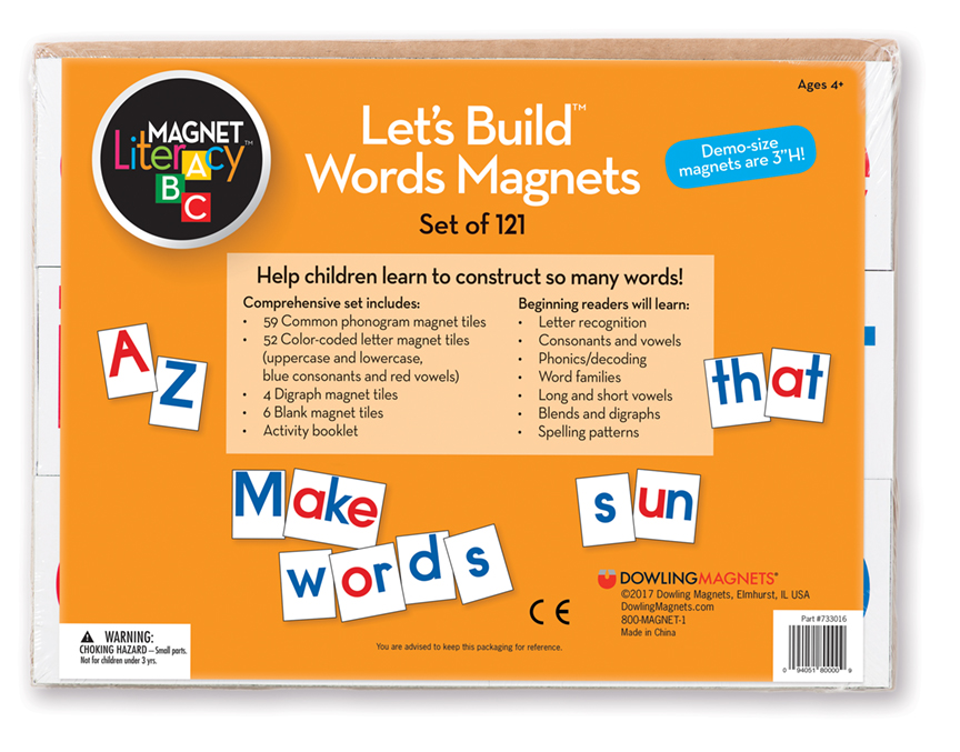 Let's Build Words Magnets, Set of 121