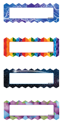 Magnetic Name Plates: Zigzags & Lightning