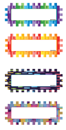Magnetic Name Plates: Pixels & Dashes