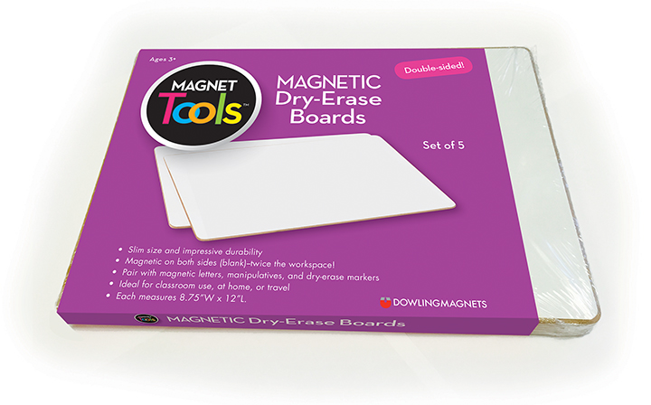Magnetic Dry-Erase Boards (double-sided blank), Set of 5