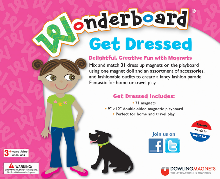 Wonderboard Get Dressed Magnet Set