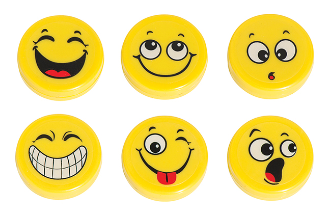 Hero Magnets: Emoji Big Button Magnets, Set of 3