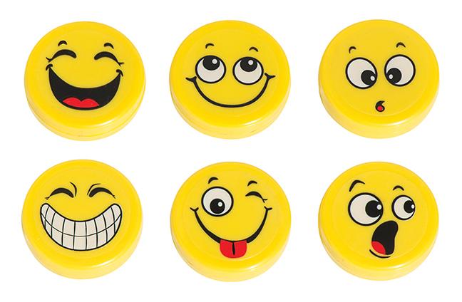 Hero Magnets: Emoji Big Button Magnets, Set of 3