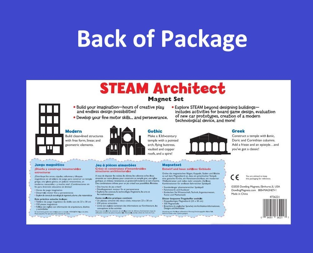 Wonderboard STEAM Architect Magnet Set