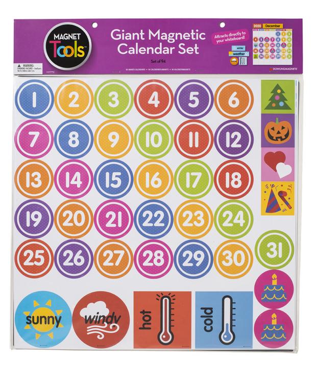 Giant Magnetic Calendar Set